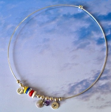 Life Path Zodiac wire charm necklace/choker
