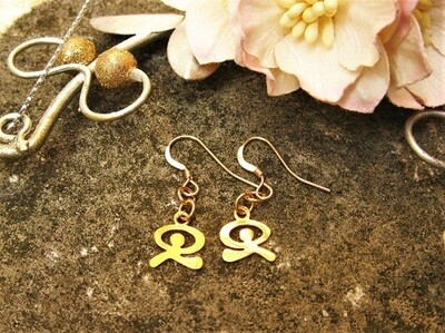 Indalo Man earrings ~ gold-filled, dancing