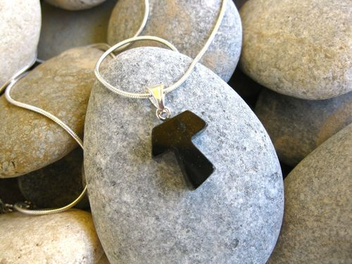 Tau Cross necklace of St Francis ~ hand-carved jet