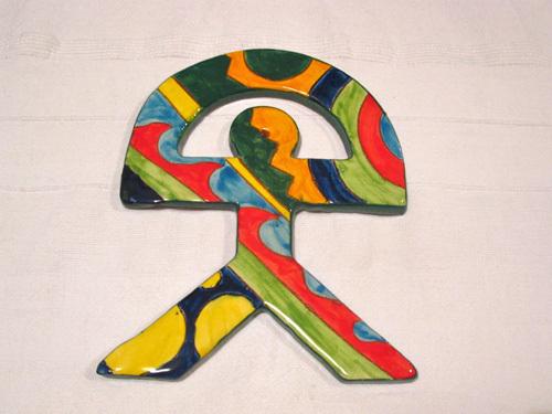 Spanish ceramic Indalo talisman, LARGE 3