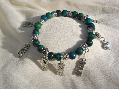 LOVE charm bracelet ~ phoenix stone