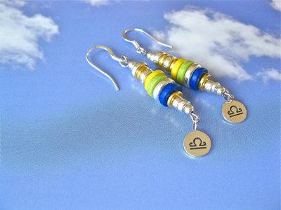 Life Path Zodiac charm earrings ~ inca