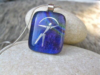 Dichroic glass necklace ~ Indalo  MYSTICAL