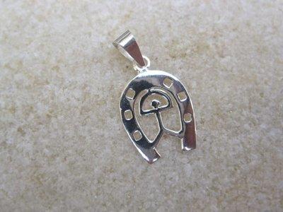 Indalo pendant ~ horseshoe, silver