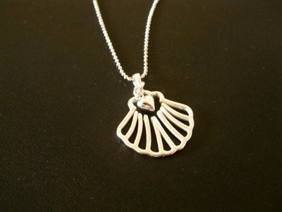 Camino Finisterre necklace - with heart
