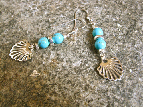 Compostela earrings, turquoise + silver TCG00862