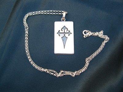 Dog tag ~ Santiago cruz, sterling silver