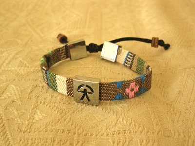 Indalo bracelet ~  woven patterned adjustable strap