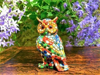 Spanish ceramic Owl figurine for safekeeping ~ Delfina