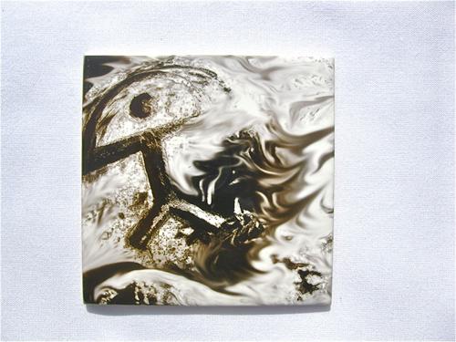Indalo tile ~ Inferno, glazed