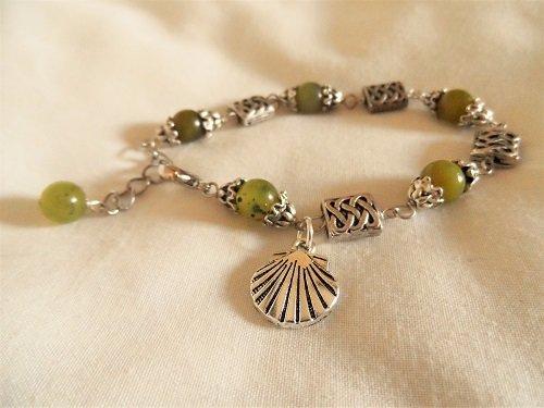 Santiago de Compostela travel bracelet ~ jade 01189