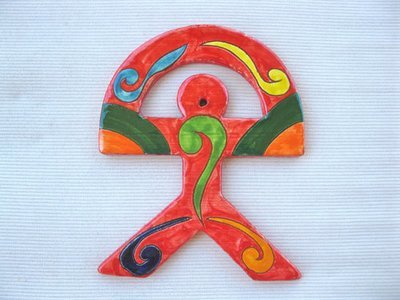 Spanish ceramic Indalo talisman, LARGE 2