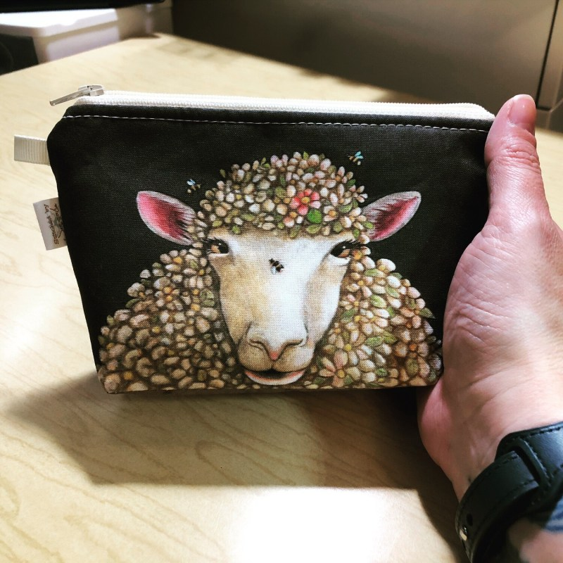 Floral Sheep Portrait - Mini Wedge - PREORDER