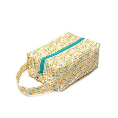 Knit Stitch in Peach - Regular Box Bag