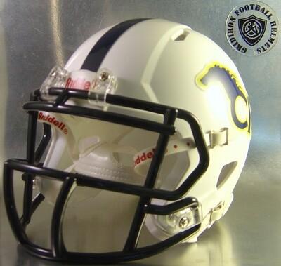 Cypress Ranch Mustangs HS 2012 with navy stripe (TX) (mini-helmet)