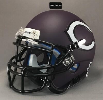 Canyon Eagles HS 2016 (TX) Matte Purple Black mask (mini-helmet)