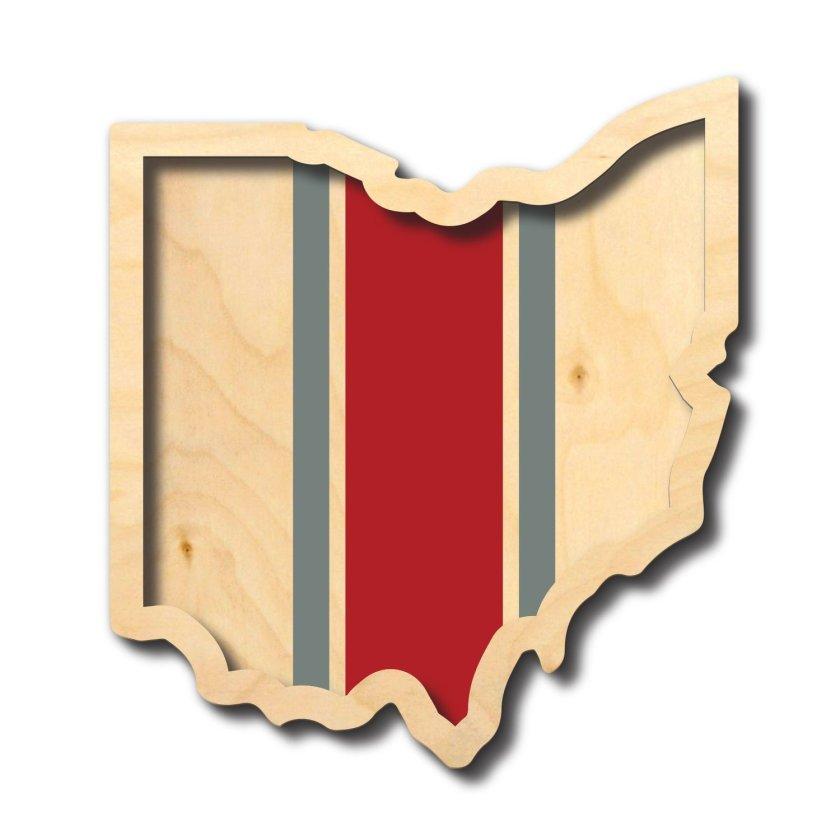 | ohio outline ... stripes | wood |