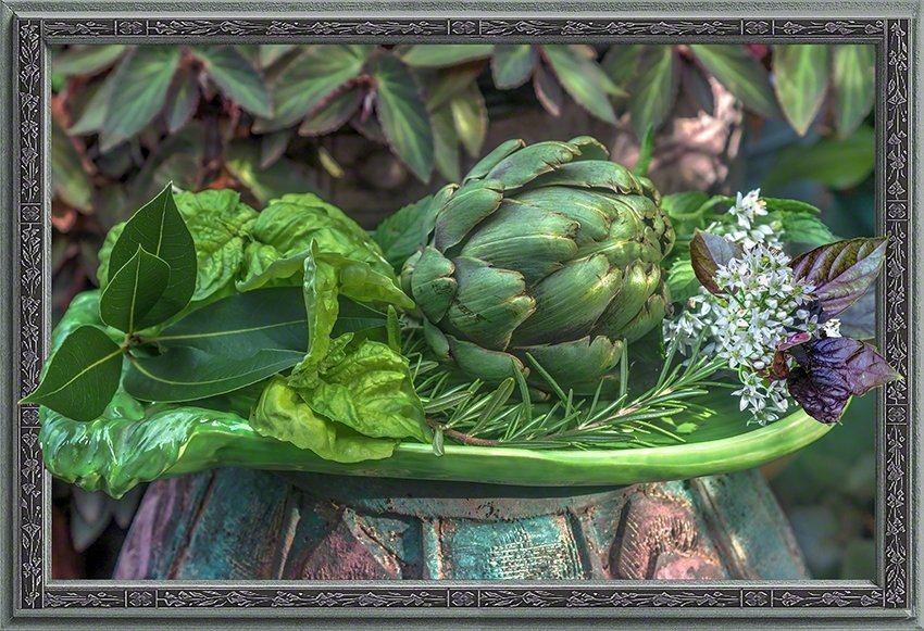 Still Life with Artichoke and Herbs VP2015091702