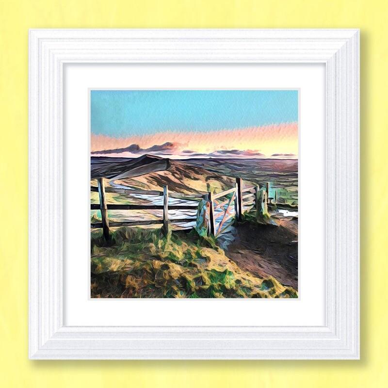 Mam Tor Sunset Art Print