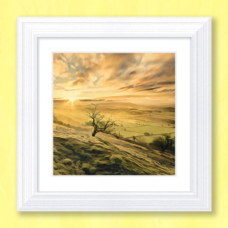 Misty Sunrise Art Print