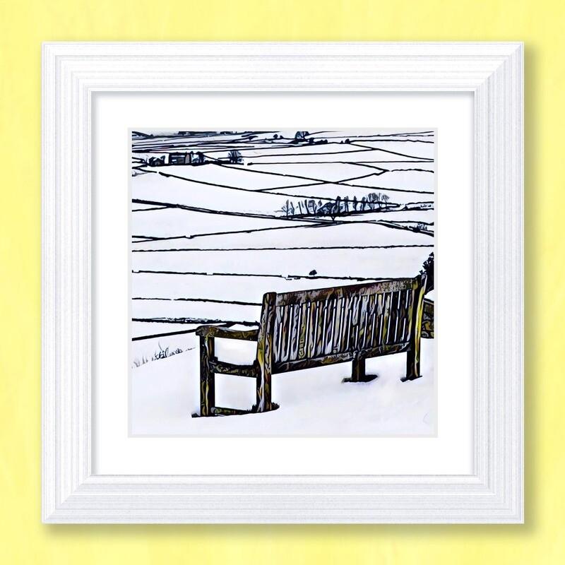 A Snowy View Art Print