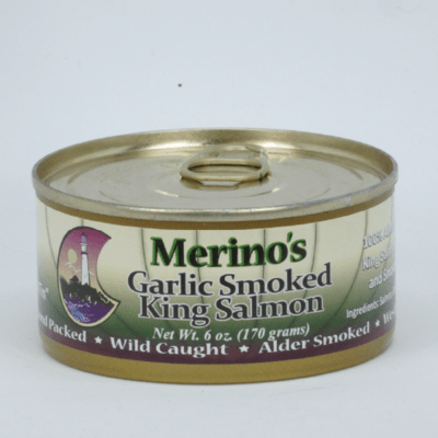 Merino's Wild Garlic Smoked King Salmon