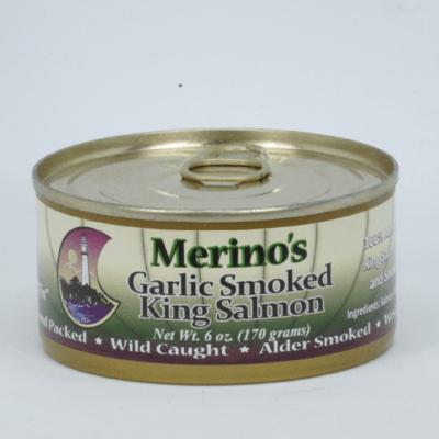 Merino's Wild Garlic Smoked King Salmon