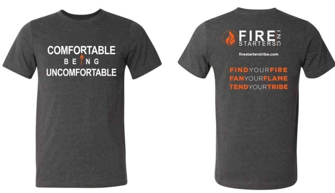 Comfortable Being Uncomfortable Standard Fit T shirt (Dark Heather Gray)