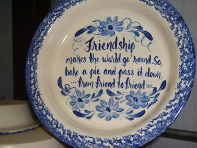 Frienship Pie Plate