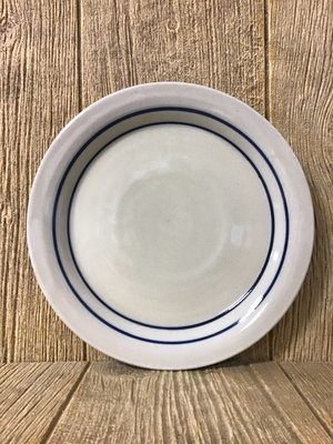 Steak Plate Blue Stripe