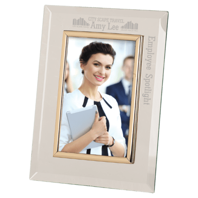 Clear Glass Picture Frame with Trim