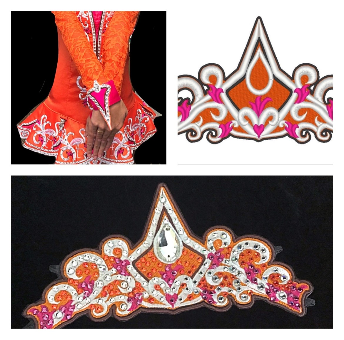 Custom designed  tiara to match your solo costume. $20 deposit for the design required! 00105