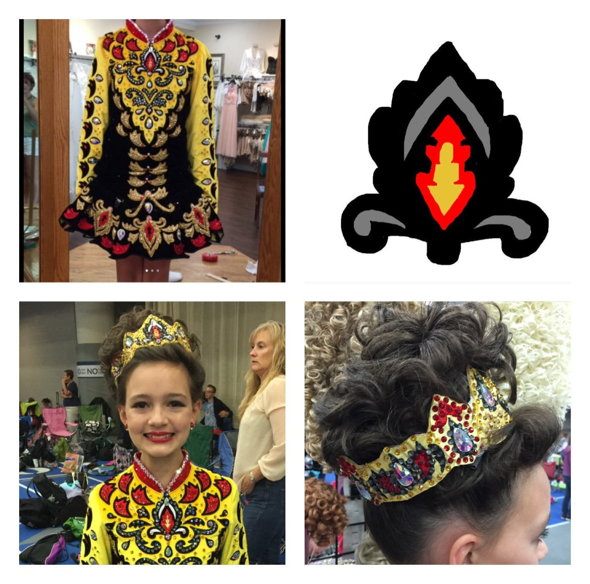 Custom designed tiara to match your solo costume. Design included. 00014