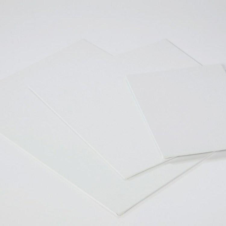 Carton entoilé 30x30cm coton blanc  - 280 g/m2