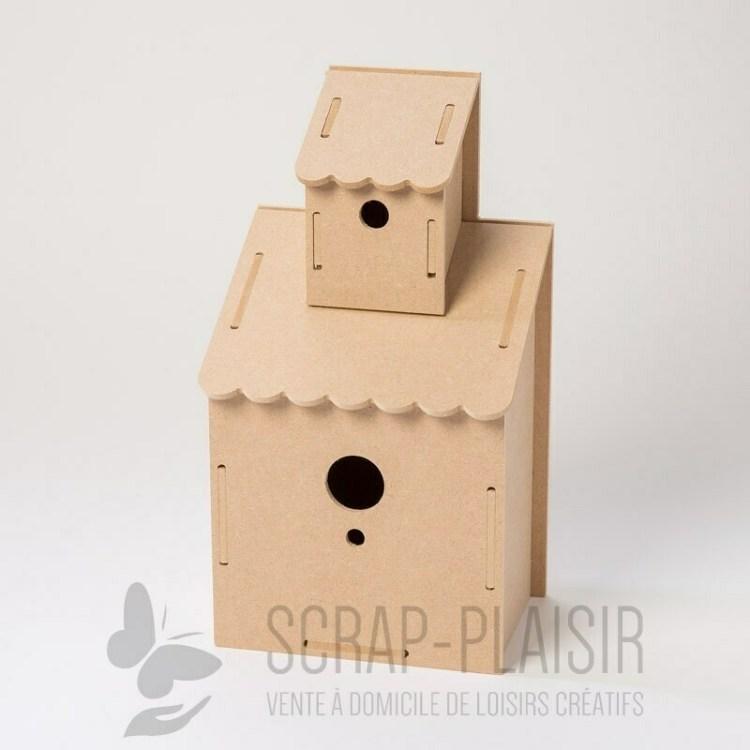 Maison à oiseaux en bois à décorer - 28 cm