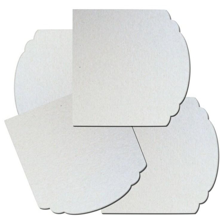 Lot de 4 plaques en carton à décorer - 14,5 cm