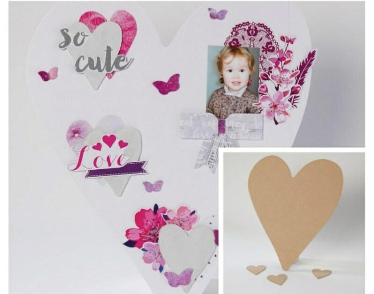 4 cœurs en bois à décorer - 40 cm