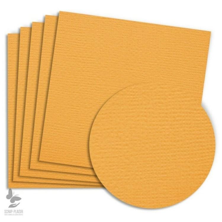 5 feuilles de papier texturé A4 - Jaune Ambre