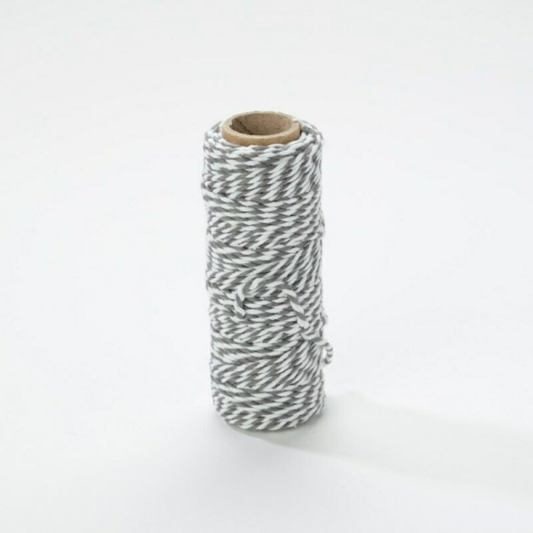 Bobine de fil Craft Perfect Bakers Twine - Pewter Grey