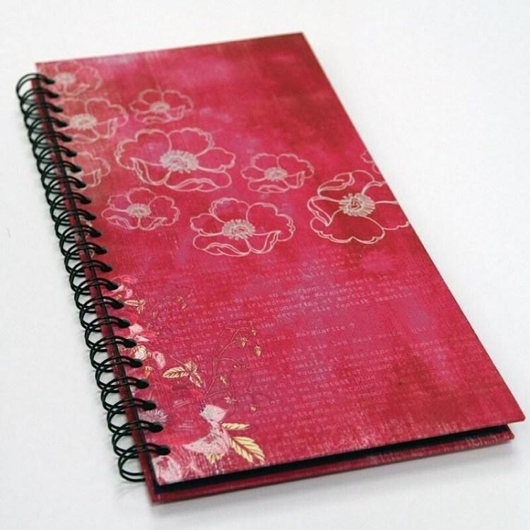 Album photos format portrait - Fleuri rose