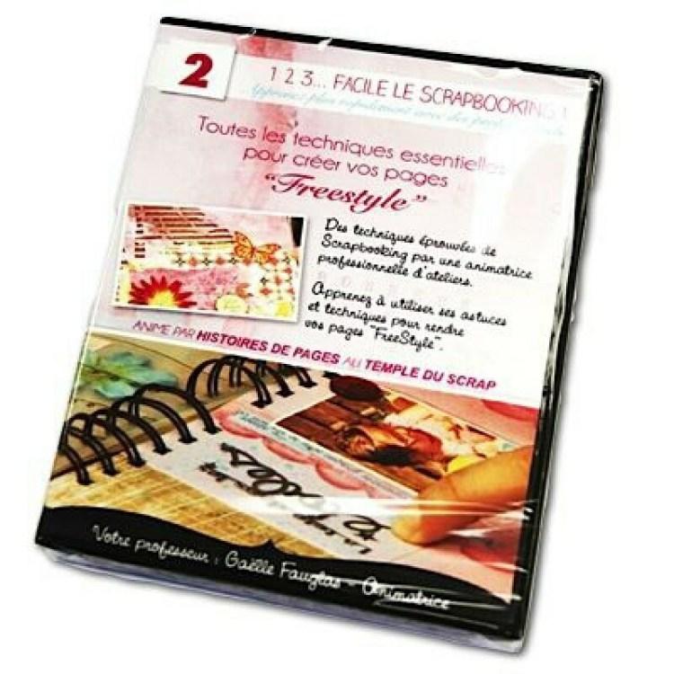 DVD 1,2,3 Facile le Scrapbooking Techniques FreeStyle - Gaelle Fauglas