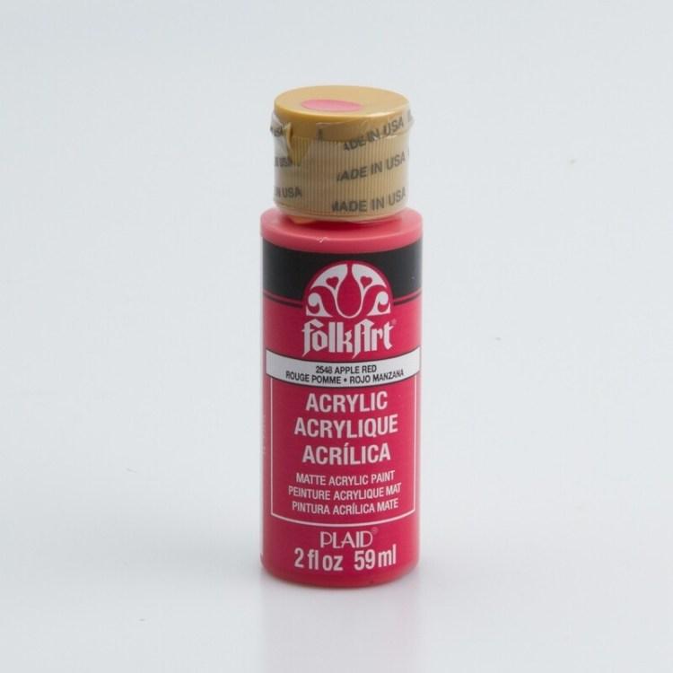 Peinture acrylique mat FolkArt Plaid 59 ml - Apple Red