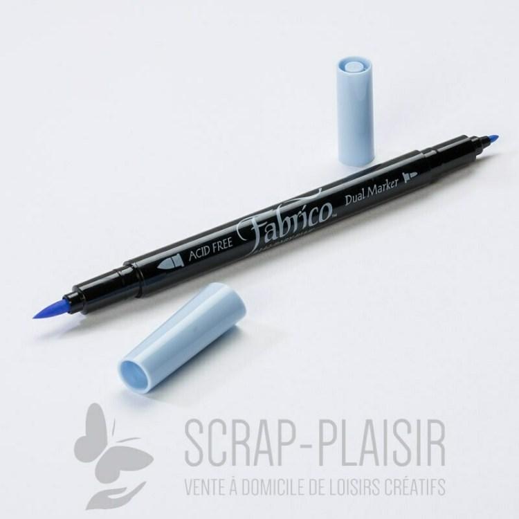 Feutre double pointe Fabrico Dual Marker - Feutre Fabrico Tendre Bleu