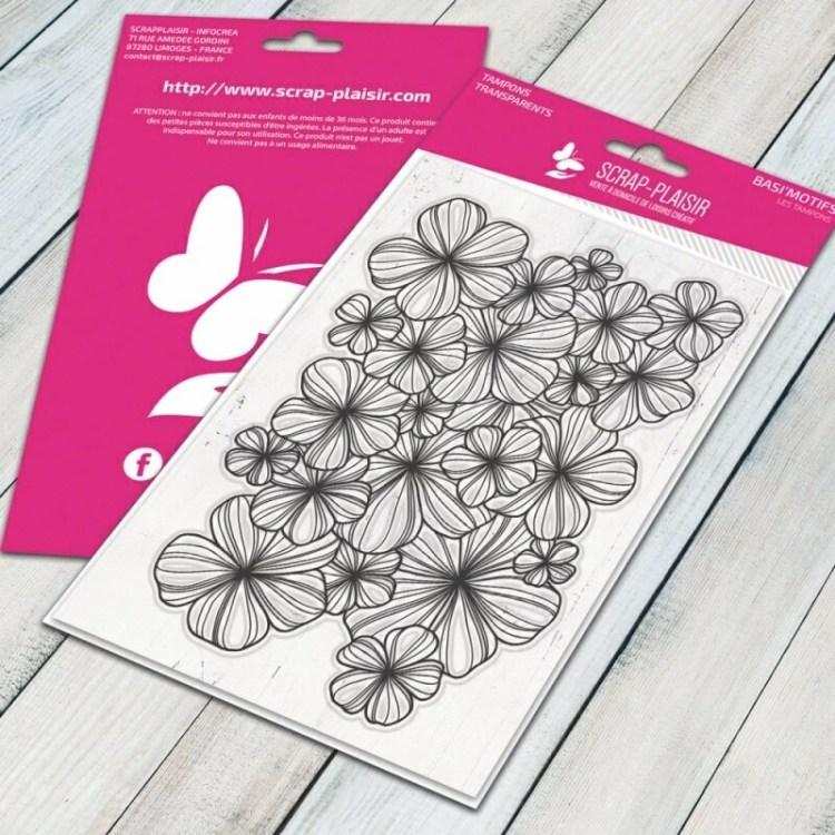 Tampon clear fleurs - 10x15cm