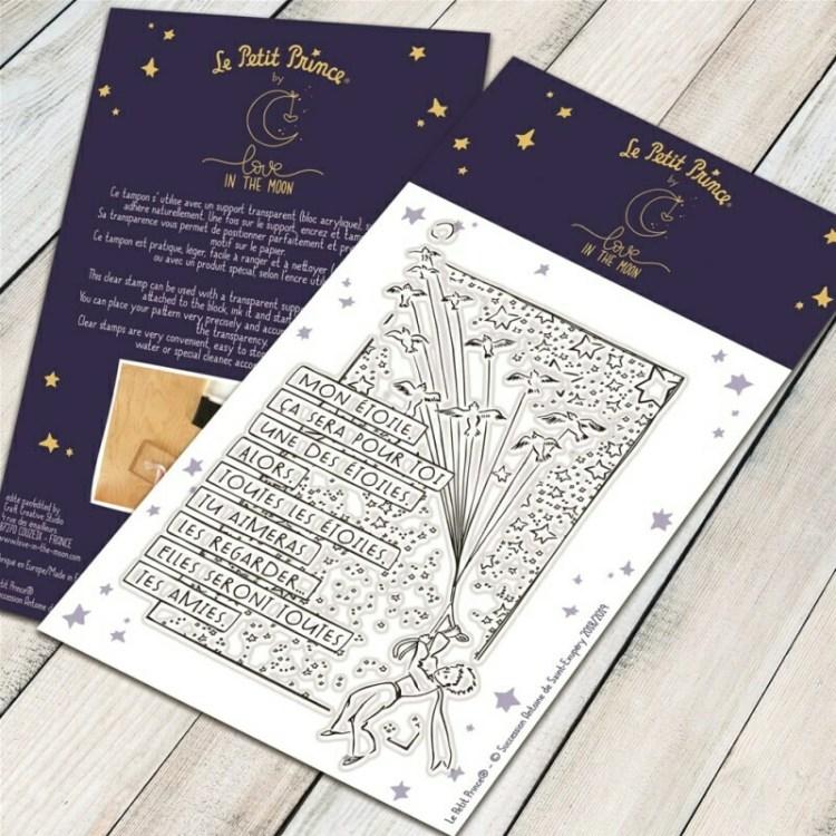 Tampon clear mon étoile du Petit Prince - 6,5x9,5cm