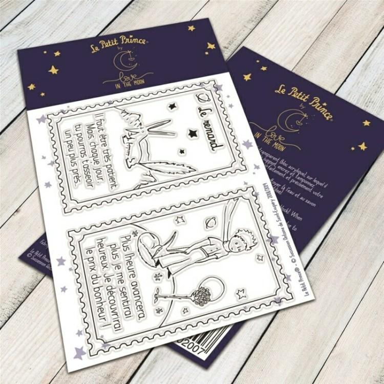Set de 2 tampons clear le renard du Petit Prince - 6,5x9,5cm