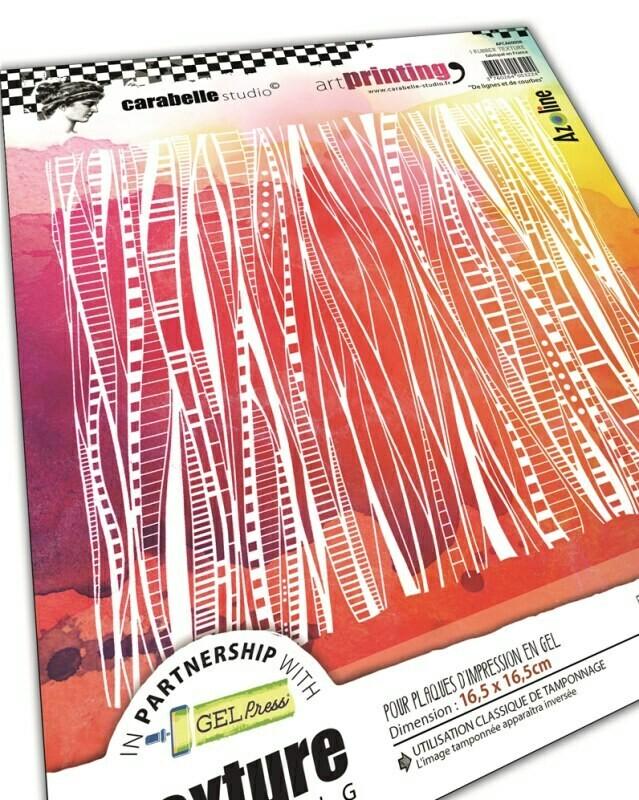 Art Printing Carré : De lignes et de courbes by Azoline