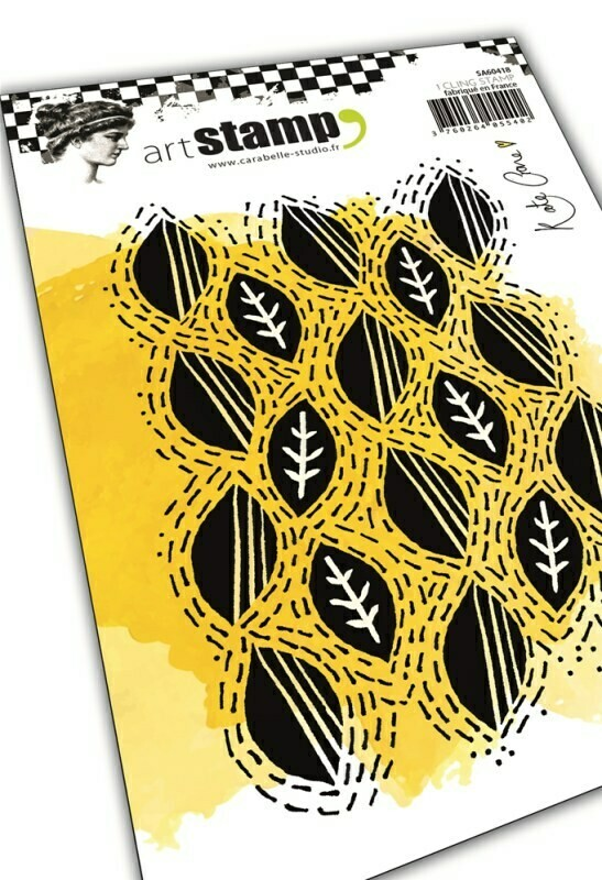 Set de tampons cling A6 - Wonky leaf line by Kate Crane - 10x15cm