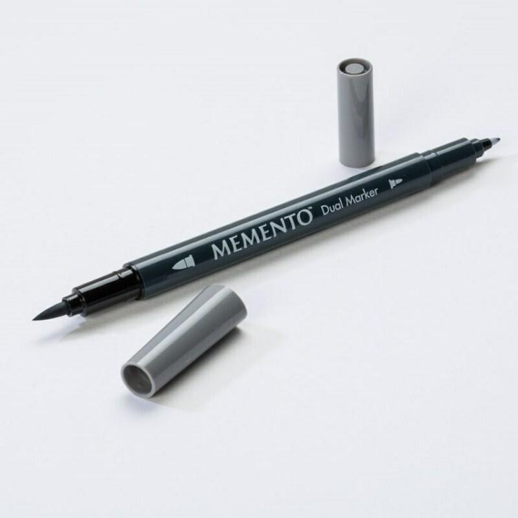Feutre aquarelle double pointe Dual Marker Memento - gray flannel