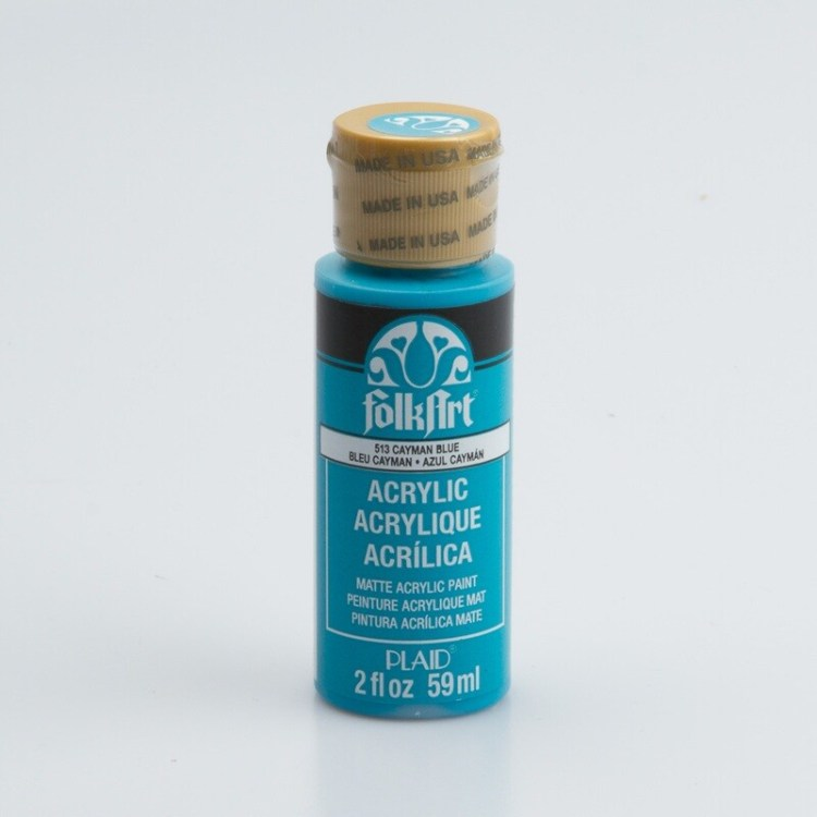 Peinture acrylique mat FolkArt Plaid 59 ml - Cayman Blue